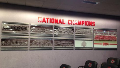 National Champions displayed in the meeting room.