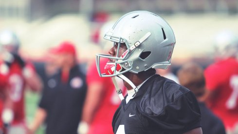 Ohio State freshman Torrance Gibson, who signed as a quarterback, took reps at wide receiver Friday for the Buckeyes.