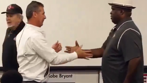 Urban Meyer and Buster Douglas
