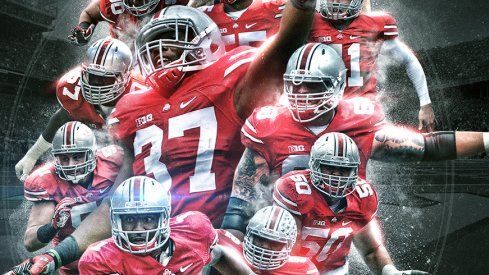 Your official 2015 Ohio State football poster features the 12 Buckeye seniors.