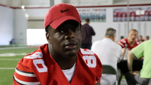 According to Ohio State wide receiver Corey Smith's Twitter account, something major happened to Noah Brown at Wednesday's practice.