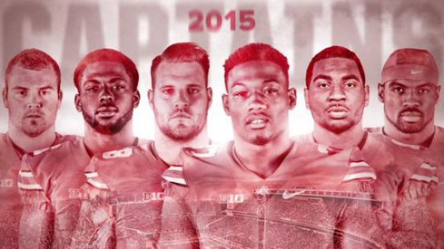 Jacoby Boren, J.T. Barrett, Taylor Decker, Joshua Perry, Braxton Miller and Tyvis Powell are your 2015 Ohio State football captains.
