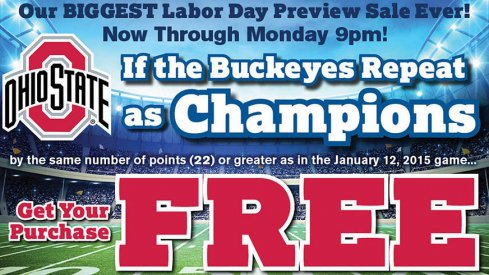 Free furniture if Ohio State repeats as College Football Playoff champions – with a catch.