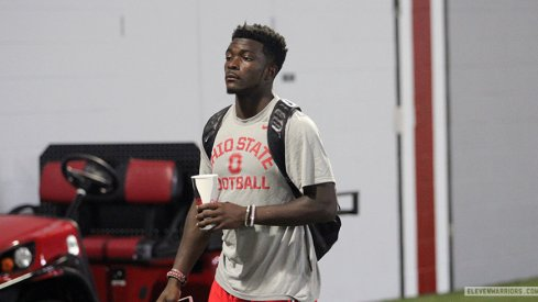 Freshman Eric Glover-Williams becomes the seventh new Buckeye to lose his Black Stripe in 2015
