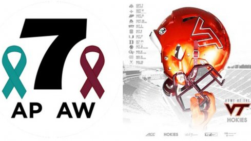 Virginia Tech will wear helmet stickers to honor WBDJ's Alison Parker and Adam Ward against the Buckeyes.