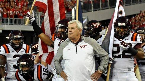 Virginia Tech head coach Frank Beamer