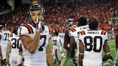 Bucky Hodges and Virginia Tech outplayed Ohio State in Ohio Stadium to silence the crowd in 2014.