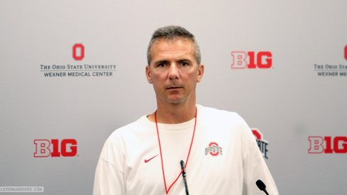 Urban Meyer meets with reporters Wednesday to preview Ohio State's game against Virginia Tech.