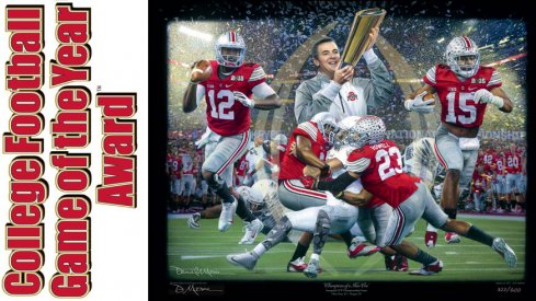 Artist Daniel A. Moore's tribute to Ohio State's 2015 College Football Playoff championship.