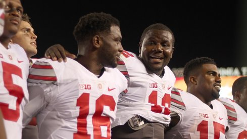 Cardale Jones and J.T. Barrett both had success against Virginia Tech Monday.