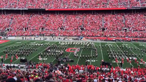 """Rick Derringer of The McCoys joined Ohio State's Marching Band to celebrate the 50th birthday of """"Hang On Sloopy"""""""