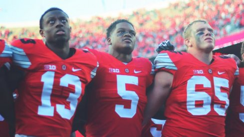 """In a wild weekend of college football, Ohio State """"escaped"""" with a 38-0 win."""
