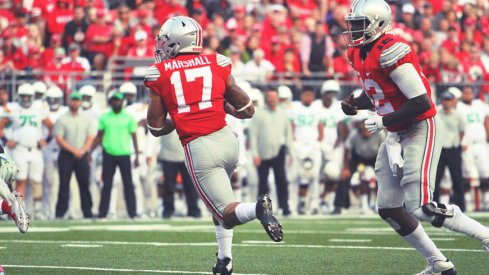 Jalin Marshall is listed as a starter for Ohio State in its latest depth chart.