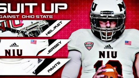 Northern Illinois' uniforms.