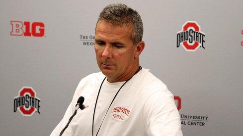 Urban Meyer met with reporters Wednesday before his team takes on Western Michigan Saturday.