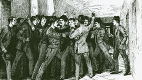 University cane rush in 1894.