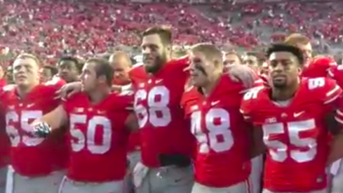 Ohio State sings 'Carmen Ohio' after defeating Western Michigan.