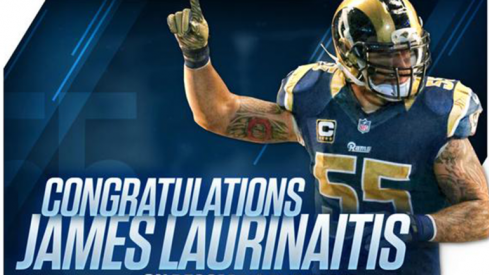 James Laurinaitis is the all-time leading tackler for the St. Louis Rams franchise.