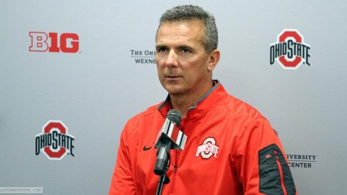 Urban Meyer spoke with reporters Monday to preview Ohio State's game at Indiana.