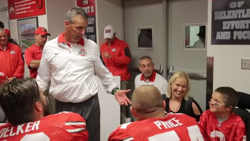 Urban Meyer and Jacob Jarvis