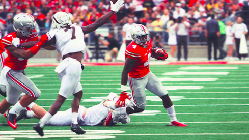Curtis Samuel on the move vs. Western Michigan