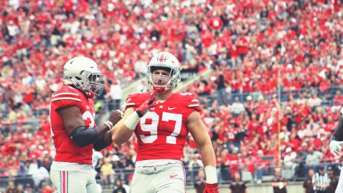Joey Bosa on the field.