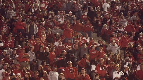 Ohio State fans at Memorial Stadium in 2012.