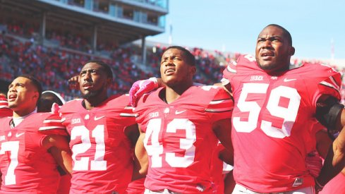 Ohio State sings 'Carmen Ohio' after beating Maryland.