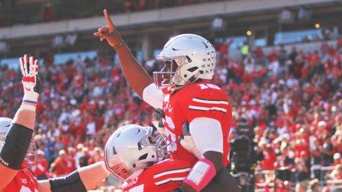 J.T. Barrett had a big day as Ohio State's primary red zone quarterback.
