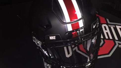 A look at the black helmet Ohio State will wear Saturday.