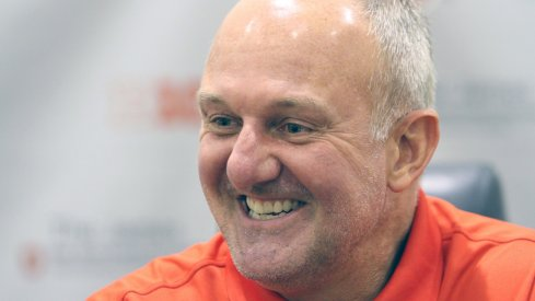 Thad Matta smiles at media day.
