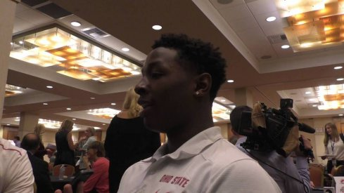 Jae'Sean Tate at Big Ten media day.