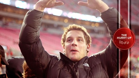 "Nick Bosa giving the Buckeye student's an ""I-O"" on Saturday"