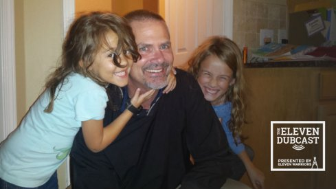 Former Ohio State linebacker Derek Isaman with daughters Chloe (8) and Ella (5).