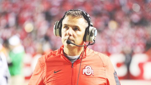 Urban Meyer collected his 150th career win with Ohio State's 49-7 thrashing of Rutgers Saturday night.