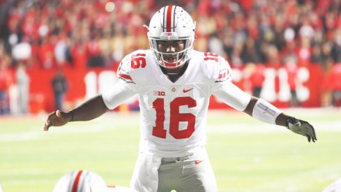 J.T. Barrett's first start of 2015 produced five touchdowns as OSU rolled past Rutgers.