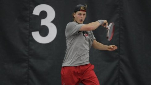 Ohio State junior tennis player Herkko Pollanen