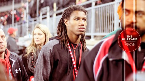 Jaylen Kelly-Powell during his recent visit to Ohio State.