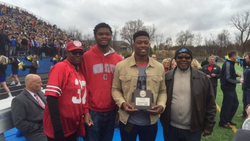 Joshua Perry honored at his high school.