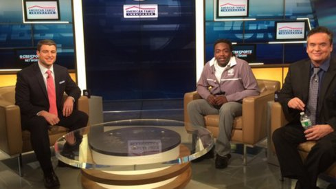 Kareem Walker on the set of Tom Lemming's television show.