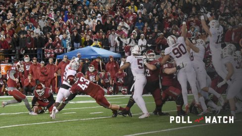 October 31, 2015: WSU sophomore place kicker Erik Powell (46) misses this game-winning field goal attempt on the last play of the game during the PAC-12 game between the Stanford University Cardinal and the Washington State University Cougars played at Martin Stadium, in Pullman Washington on the campus of Washington State. Stanford won 30-28 to improve to 7-1 overall and 6-0 in the PAC-12 North. WSU fell to 5-3 overall, and 3-2 in PAC-12 conference play. (Photograph by Robert Johnson/Icon Sportswire)