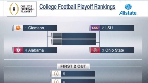 Ohio State debuts at No. 3 in the inaugural 2015 College Football Playoff rankings.