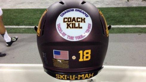 Coach Kill decals Minnesota will wear vs. Ohio State