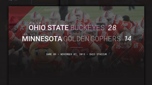 Ohio State Minnesota Infographic Header