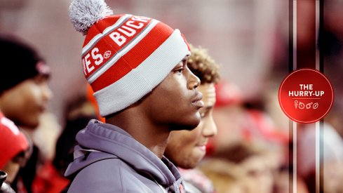 Daelin Hayes during his official visit to Ohio State.