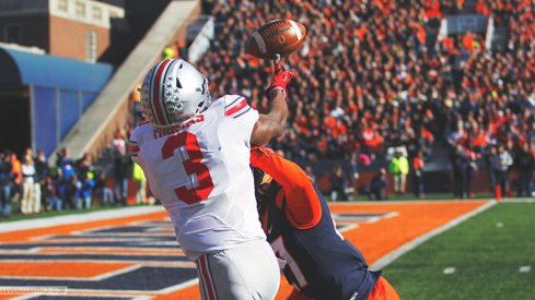 Michael Thomas hauled in this 24-yard pass from J.T. Barrett for the first points of Saturday.