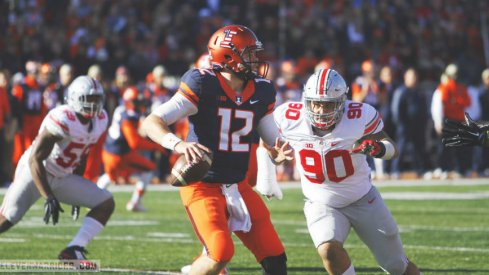 Tommy Schutt and the Ohio State defensive line played well in a win over Illinois.