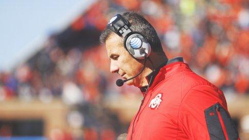 Ohio State coach Urban Meyer during the Illinois game.