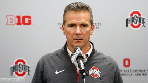 Urban Meyer meets the media Monday ahead of the Michigan State game.