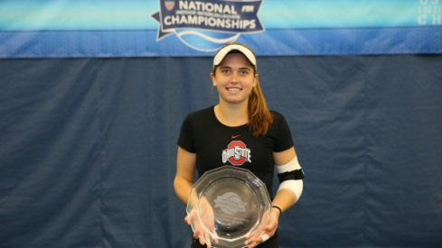 Francesca Di Lorenzo celebrates national championship